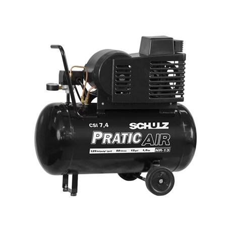 Compressor de Ar 7.4 Pés 125 Psi 50 Litros 110/220V com Rodas CSI7.4/50 SCHULZ