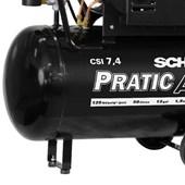 Compressor de Ar 7.4 Pés 125 Psi 50 Litros 220V Monofásico com Rodas CSI7.4/50 SCHULZ