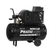 Compressor de Ar 7.4 Pés 125 Psi 50 Litros Monofásico 110/220v com Rodas CSI7.4/50