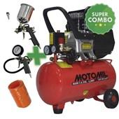 Compressor de Ar 7,4 Pés 24 LTS + Kit de Pintura Motomil