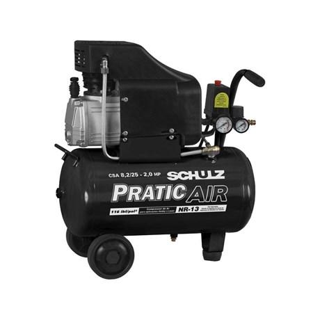 Compressor de Ar 8,2 Pés 25 Litros CSA8.2/25 Schulz