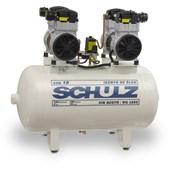 Compressor de Ar Odontológico 18 pés 100 Litros sem Óleo 220V CSD 18/100 SCHULZ