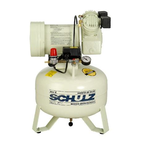 Compressor de Ar Odontológico 6 Pés 30 Litros s/ Óleo MSV6/30 SCHULZ