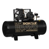 Compressor de Ar Pistão 15 Pés 140 Libras 3HP Trifásico 220/380V CSL 15BR/200 SCHULZ