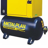 Compressor Parafuso 25HP 96 Pés 9 Bar 163 Litros 220V ROTOR PLUS METALPLAN