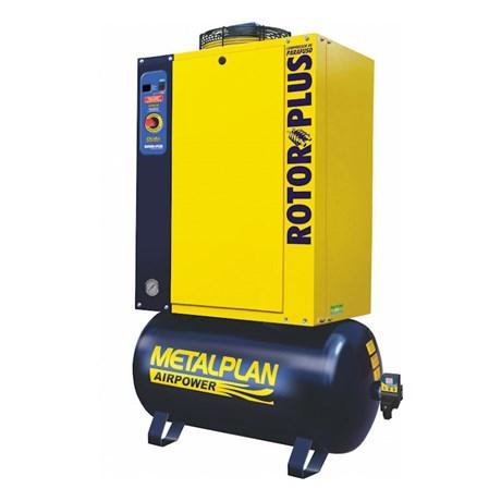Compressor Parafuso 25HP 96 Pés 9 Bar 163 Litros 220V Trifásico ROTOR PLUS METALPLAN