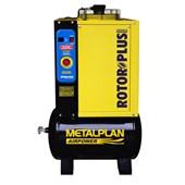 Compressor Parafuso 4HP 16,4 Pés 10 Bar 70 Litros 220V Trofásico ROTOR PLUS METALPLAN
