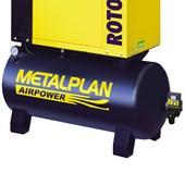 Compressor Parafuso 6 HP 27,4 Pés 8 Bar 100 Litros 220V Trifásico ROTOR PLUS METALPLAN