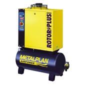 Compressor Parafuso 6HP 28,2 Pés 7 Bar 100 Litros 220V ROTOR PLUS METALPLAN
