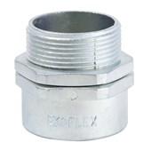 """Conector Macho Giratório 3/8"""" para Conduíte Aço Corrugado KMZG-038 EKOFLEX"""