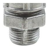 """Conector Prensa Cabo 1/2"""" 15mm Alumínio Cinza 56132/005 TRAMONTINA ELETRIK"""