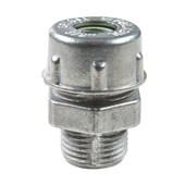 """Conector Prensa Cabo 1"""" 22,5mm Alumínio Verde 56132/010 TRAMONTINA ELETRIK"""