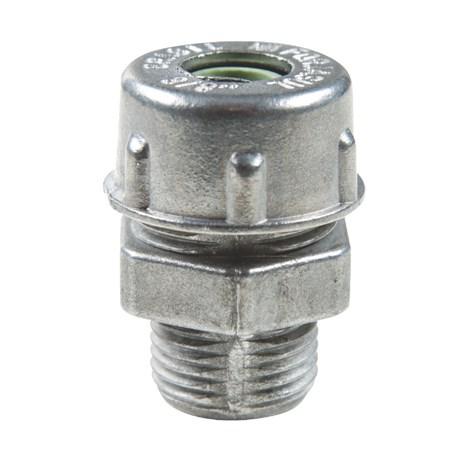 """Conector Prensa Cabo 3/4"""" 20mm Alumínio Cinza 56132/009 TRAMONTINA ELETRIK"""