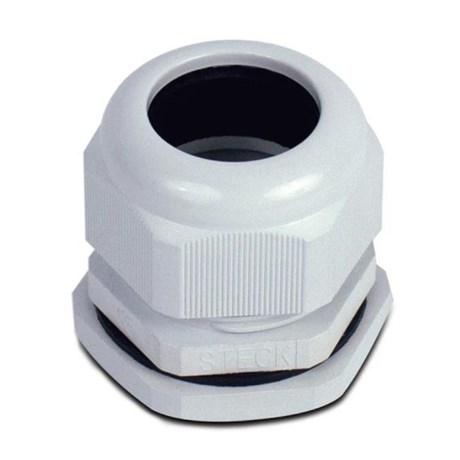 Conector Prensa Cabo M16 8mm Nylon Cinza S871CI STECK