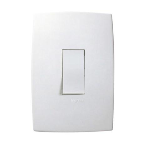 Conjunto de Interruptor Simples Vertical 4x2 1 Módulo 10A 250V 611100 PIAL