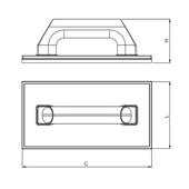 Desempenadeira Plástica Base de Borracha 300x180 mm 60625 CORTAG