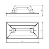 Desempenadeira Plástica Base de Espuma 300x180 mm 60797 CORTAG