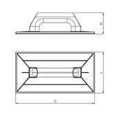 Desempenadeira Plástica para Grafiato 270x140 mm 61354 CORTAG