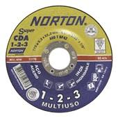 """Disco de Corte/Desbaste para Ferro 4.1/2"""" x 2.20mm x 7/8"""" 115CDA123 MULTIUSO NORTON"""