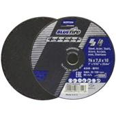 """Disco de Corte e Desbaste para Aço Inox 3"""" 7.0mm 25/64"""" BLUE FIRE NORTON"""