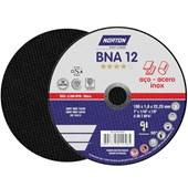 """Disco de Corte para Aço Carbono e Inox 7"""" 1,6mm 7/8"""" BNA 12 NORTON"""