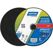 """Disco de Corte para Aço Inox 4.1/2"""" 3.0mm 7/8"""" AR 332 NORTON"""
