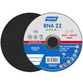 """Disco de Corte para Aço Inoxidável 7"""" 2,0mm 7/8"""" BNA 22 NORTON"""