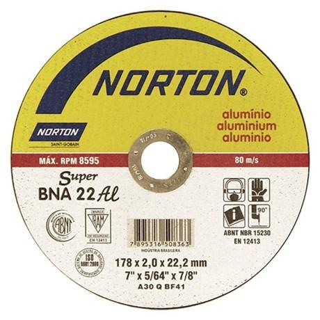 """Disco de Corte para Aluminio 7"""" x 2.00mm x 7/8"""" BNA22 ALUMINIO"""