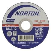 "Disco de Corte para Inox 4.1/2"" x 1.0mm x 7/8"" BNA12 EXTRA NORTON"