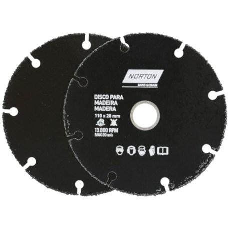 "Disco de Corte para Madeira 4.5"" 1,0mm 4/5"" 69957315170 NORTON"