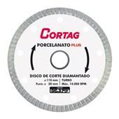 Disco de Corte Turbo Plus Diamantado para Porcelanato 110mm 61314 CORTAG