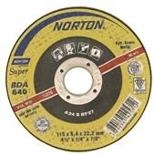 "Disco de Desbaste para Ferro 4.1/2"" x 1/4"" x 7/8"" SUPER 115BDA640 NORTON"