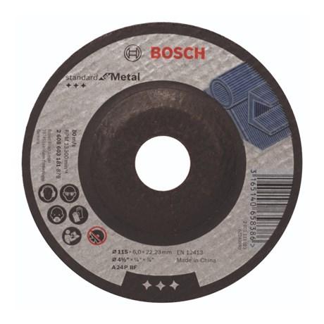 """Disco de Desbaste para Ferro e Metal 4.1/2"""" x 1/4"""" x 7/8"""" 2608603181 BOSCH"""