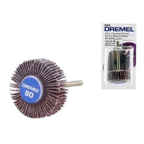 """Disco de Lamelas 3/8"""" Grão 80 para Micro Retífica 2615000502 DREMEL"""