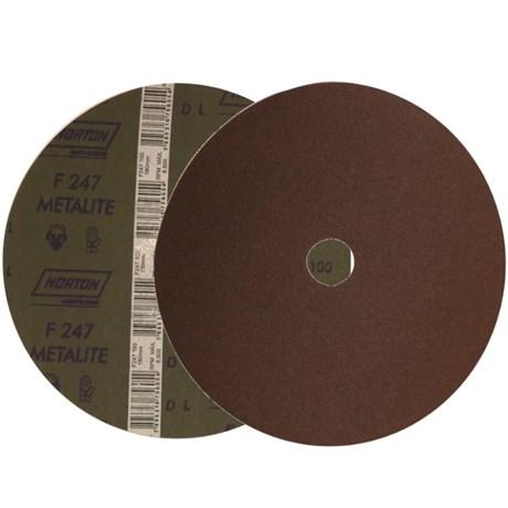 """Disco de Lixa para Aço 7"""" 7/8"""" Grão 100 Fibra Metalite F 247 NORTON"""