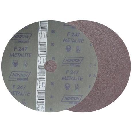 """Disco de Lixa para Aço 7"""" 7/8"""" Grão 80 Fibra Metalite F 247 NORTON"""