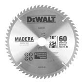 """Disco de Serra para Madeira 10"""" com 60 Dentes DW03120 DEWALT"""