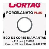 Disco Diamantado para Porcelanato 110mm x 20mm 60683 CORTAG