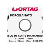 Disco Diamantado Turbo para Porcelanato 110mm x 20mm 60683 CORTAG
