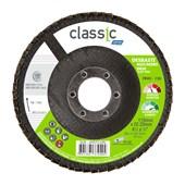 """Disco Flap 4.1/2"""" Grão 120 R 801 FIBRA NORTON"""