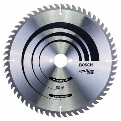 """Disco Serra Circular 7.1/4"""" com 60 Dentes 2608640854 Bosch"""