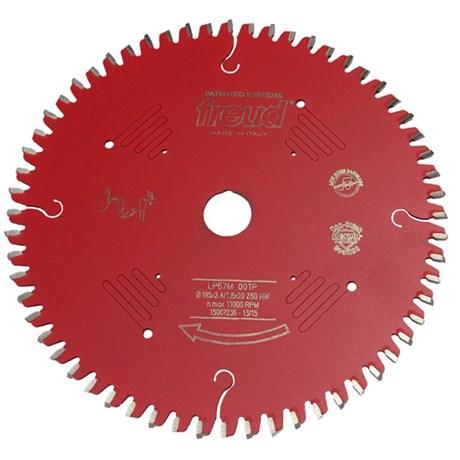 "Disco Serra Circular 7.1/4"" com 60 Dentes F03FS07261 LP67M 01"