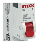 Disjuntor 1P 16A C 3kA DIN Curva C com Alavanca Articulada SDD61C16 STECK