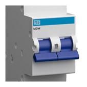 Disjuntor 2P 10A 5kA Termomagnético DIN curva C com Alavanca MDW-C10-2 WEG