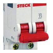 Disjuntor 2P 6A C 3kA DIN Curva C com Alavanca Articulada SDD62C06 STECK
