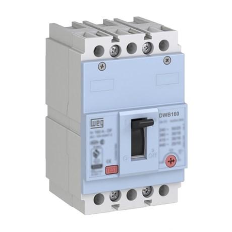 Disjuntor 3P 125A 18kA Caixa Moldada com Alavanca Articulada DWB160B125-3DX WEG