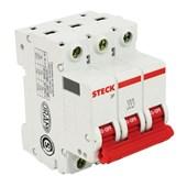 Disjuntor 3P 125A C 10kA DIN Curva C com Alavanca Articulada SDD3C125 STECK