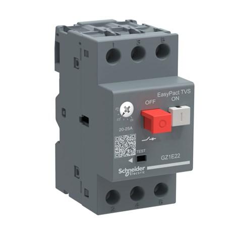 Disjuntor 3P 17 - 20A Motor Termomagnético com Botão Impulsão Tesys GZ1E21 SCHNEIDER