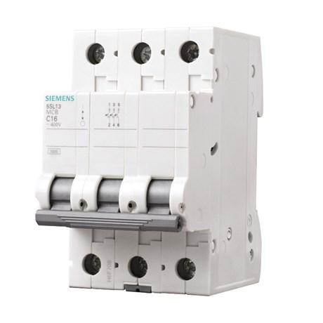 Disjuntor 3P 36A 3kA DIN Curva C com Alavanca Articulada 5SL1 363-7MB SIEMENS