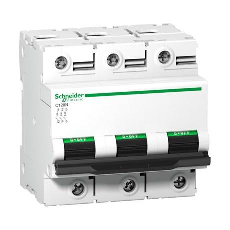 Disjuntor Modular 3P 125A DIN Curva C com Alavanca Ajustável A9N18369 SCHNEIDER